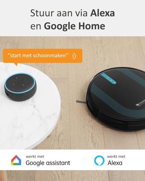proscenic 850T zwart robotstofzuiger smart home