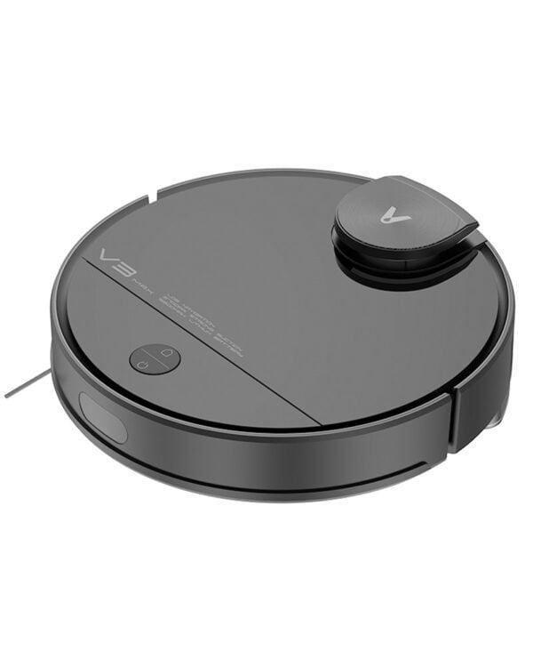 xiaomi viomi v3 max zwart-robotstofzuiger schuin
