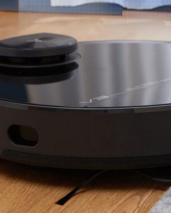 xiaomi viomi v3 max zwart-robotstofzuiger closeup